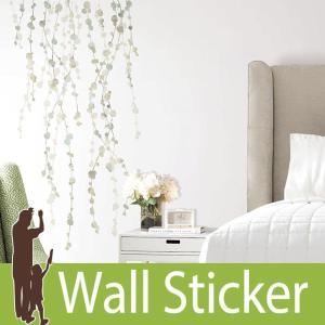 ウォールステッカー 葉 (ハンギングヴァイン ウォーターカラー) ルームメイツ RoomMates 壁紙シール 貼ってはがせる のりつき|senastyle