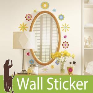 ウォールステッカー 花 (グラフィックフラワー) ルームメイツ RoomMates 壁紙シール 貼ってはがせる のりつき ウォールシール|senastyle
