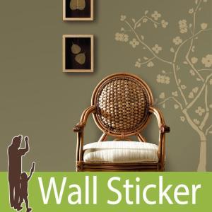 ウォールステッカー モノトーン 桜 (チェリーブラッサム) ルームメイツ RoomMates 壁紙シール 貼ってはがせる のりつき ウォールシール|senastyle