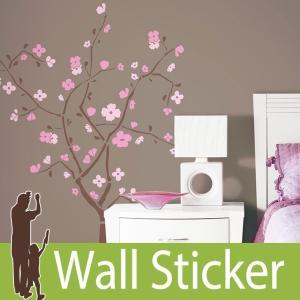 ウォールステッカー 桜 (スプリングブラッサム) ルームメイツ RoomMates 壁紙シール 貼ってはがせる のりつき ウォールシール|senastyle