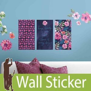 ウォールステッカー 花 (キャシーデイビス フローラルパネル) ルームメイツ RoomMates 壁紙シール 貼ってはがせる|senastyle
