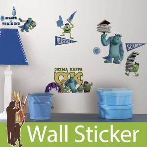 ウォールステッカー ディズニー モンスターズ・ユニバーシティ 半透明 かわいい ルームメイツ RoomMates のり付き 壁紙シール 子供部屋|senastyle