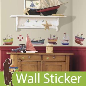 ウォールステッカー 船 ヨット ボート シップシェイプ 半透明 北欧 ルームメイツ RoomMates 壁紙シール キッチン リビング 子供部屋|senastyle