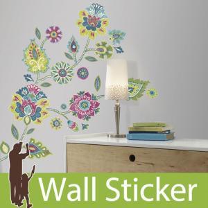 ウォールステッカー 花 フラワー モダン ボーホーフローラルジャイアント 不透明 北欧 ルームメイツ RoomMates 壁紙シール リビング|senastyle