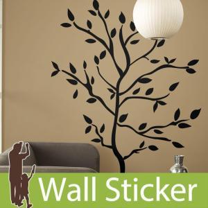 ウォールステッカー 木 モノクロ ツリー ツリーブランチ 半透明 かわいい 北欧 ルームメイツ RoomMates 壁紙シール キッチン リビング|senastyle