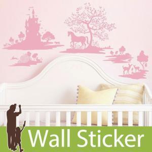ウォールステッカー メルヘン キャッスル ドゥエルスタジオファーブル 不透明 かわいい 北欧 ルームメイツ RoomMates 壁紙シール リビング|senastyle
