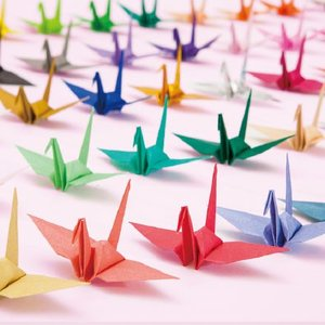 折り鶴 単色 15cm 50羽 15cm角おりがみ おもてなしアイテム|senbanotsuru