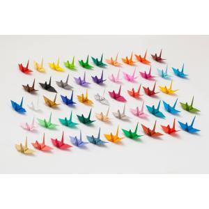 折り鶴 単色 15cm 50羽 15cm角おりがみ おもてなしアイテム|senbanotsuru|02