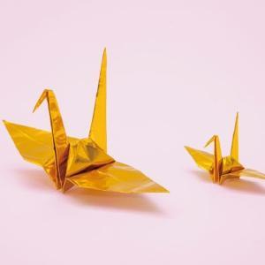 折り鶴 金 7.5cm 100羽 7.5cm角おりがみ おもてなしアイテム|senbanotsuru
