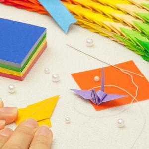 千羽鶴キットS 20色 手作りキット【水晶付】千羽鶴用折り紙と材料のセット Sサイズ(5cm角折り紙)|senbanotsuru