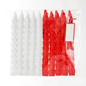 折り鶴シャワー7.5cm【紅白】100羽|senbanotsuru|02