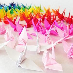 折り鶴シャワー7cm【20色】100羽 結婚式 ウェディング 和婚|senbanotsuru