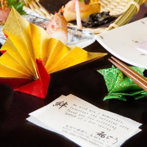 寿鶴亀 15cm 10セット  サイズ15cm角友禅千代紙で折った鶴亀 長寿・繁栄 箸置き|senbanotsuru
