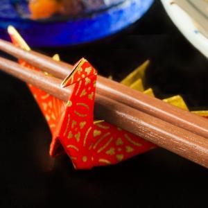 箸置き 7.5cm 10羽  7.5cm角友禅千代紙で折った鶴の箸置  長寿・繁栄 箸置き|senbanotsuru
