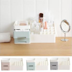 化粧品収納ボックス メイクケース コスメスタンド コスメ収納ボックス 引き出し小物 化粧品入れ レディース  ジュエリーボックス3サイズの写真