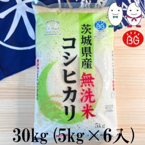 お米 BG無洗米 30kg(5kg×6) 茨城県産コシヒカリ 令和2年産|senda