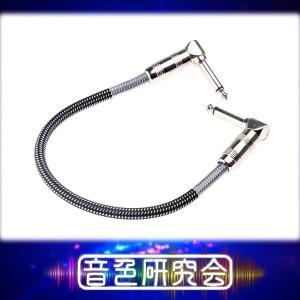 ギターエフェクターパッチケーブル Kirlin 20cm/7.9in 6.5mm ブラック|sendaiguitar