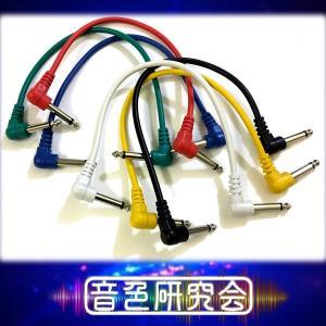 お徳用ギターエフェクターパッチケーブル 6本セット 約30cm|sendaiguitar