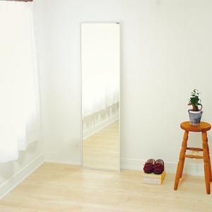 42cm×153cm  細枠 全身 鏡 姿見 壁掛け 日本製 ウォールミラー  ナチュラル ウォッシュホワイト ダークブラウン ブラック|sendaiworks