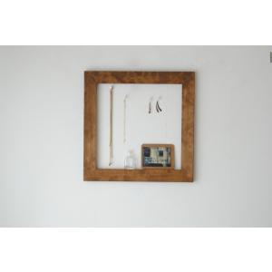 フレーム 額縁 50cm×50cm アンティーク 壁面 インテリア 木製 DIY  ブラウン ホワイト|sendaiworks