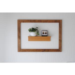 フレーム 額縁 64cm×88cm アンティーク 壁面 インテリア 木製 DIY  ブラウン ホワイト|sendaiworks