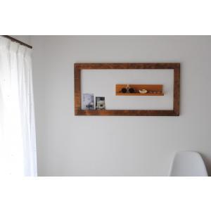 フレーム 額縁 50cm×100cm アンティーク 壁面 インテリア 木製 DIY  ブラウン ホワイト|sendaiworks
