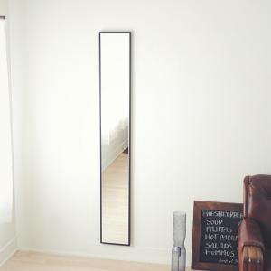 22cm×153cm 細枠 全身 鏡 姿見 壁掛け 日本製 ウォールミラー  ナチュラル ウォッシュホワイト ダークブラウン ブラック|sendaiworks