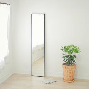32cm×153cm  細枠 全身 鏡 姿見 壁掛け 日本製 ウォールミラー  ナチュラル ウォッシュホワイト ダークブラウン ブラック|sendaiworks