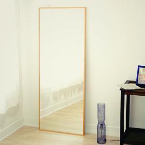 60cm×153cm  細枠 全身 鏡 姿見 壁掛け 日本製 ウォールミラー  ナチュラル ウォッシュホワイト ダークブラウン ブラック|sendaiworks