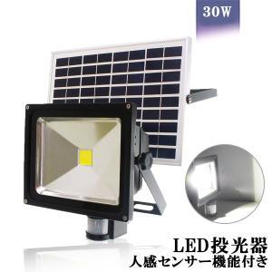 LED投光器 30W 人感 センサー 太陽光 ソーラー ライト 明るい1000ルーメン 昼光色 IP...