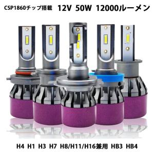 LED ヘッドライト A8L フォグランプ H4 H1 H3 H7 H8 H11 H16 HB3 HB4 車検対応 50W 12000Lm 6000K CSP1860チップ 光軸調整可 2本セット|sendaizuihouen-store