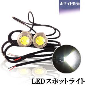 LED スポットライト 計6W 大玉2連 ホワイト 防水 超高輝度 埋込型 シルバー 2本セット|sendaizuihouen-store