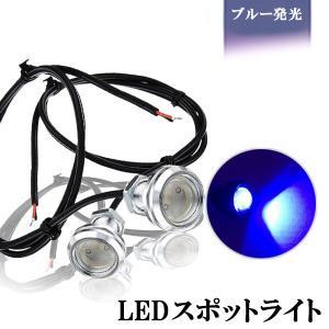 LED スポットライト 大玉 9W 23mm ブルー シルバーボディー ボルトタイプ/デイライト/ダウンライト 防水 埋め込み 2個セット|sendaizuihouen-store