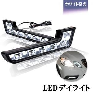 LED デイライト ホワイトLED点灯ユーロベンツW212風 デイライト計12連2本セット|sendaizuihouen-store