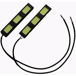 LED デイライト バーライト パネル イルミ薄さ4mm防水タイプ強力ムラ無し COB 3枚搭載 パネル イルミ 長さ9cm 2本セット [M便 1/2]|sendaizuihouen-store