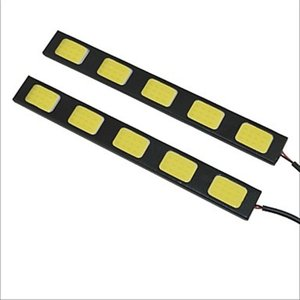 LED デイライト バーライト パネル イルミ薄さ4mm防水タイプ強力ムラ無し COB 5枚搭載 パネル イルミ 長さ15cm 2本セット [M便 1/2]|sendaizuihouen-store