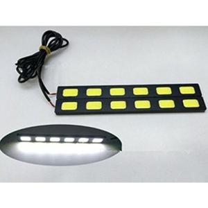 LED デイライト バーライト パネル イルミ薄さ4mm防水タイプ強力ムラ無し COB 6枚搭載 パネル イルミ 長さ18cm 2本セット [M便 1/2]|sendaizuihouen-store