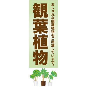 のぼり ガーデン 観葉植物 おしゃれな観葉植物をご用意しています のぼり旗|sendenjapan