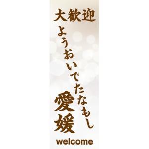 のぼり 大歓迎 ようおいでたなもし 愛媛 のぼり旗|sendenjapan