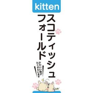 のぼり のぼり旗 スコティッシュフォールド 猫 キャット Kitten|sendenjapan