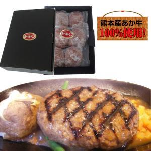 熊本県産 くまもとあか牛 ハンバーグ6個入り 送料無料 ギフト 贈答用 和牛 赤牛 父の日 お取り寄せ 敬老の日 お歳暮|sendoichiba