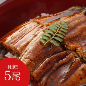 中国産 うなぎの蒲焼 5尾 うなぎ蒲焼 冷凍品 送料無料 ご家庭用 ギフト 贈り物|sendoichiba