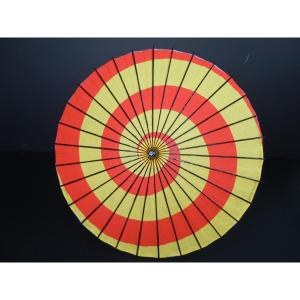 子供用舞踊傘(紙傘) A 渦巻き黄赤[品番号,190] senjyu