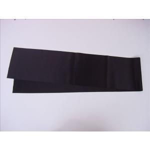 半衿 黒朱子(繻子) 18×150cm[品番号,3083]|senjyu