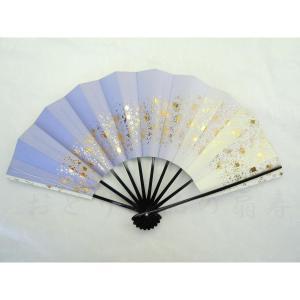舞扇子 踊り扇子 29cm 天の川 紫 日本製(京都) 箱なし