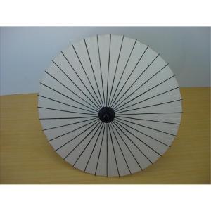 舞踊傘(紙傘) 尺四寸 一本柄 B 無地 白[品番号,3411] senjyu