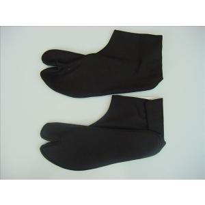 黒木綿 黒足袋 黒布底 4枚こはぜ 24cm[品番号,4100]|senjyu