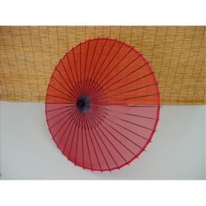 絹傘 赤 B (日本舞踊傘・和傘・踊り傘)[品番号,4425] senjyu