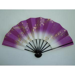 舞扇子 日本舞踊・踊り用 29cm 流水 紫 日本製(京都) 箱なし