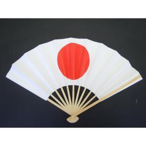 日の丸扇子 イベント・祭り用舞扇子 並 9寸11間 白竹 27.5cm